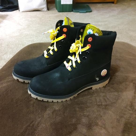 Mens Sponge Bob Boots Size 090